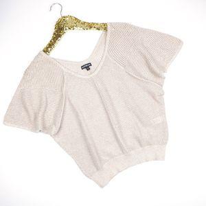 Express Rose Gold Beige Kimono Sleeve Sweater