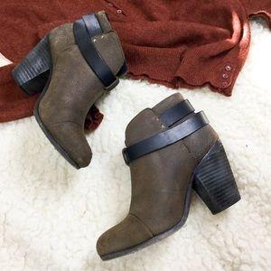 Rag & Bone Harrow distressed nubuck ankle boots 36