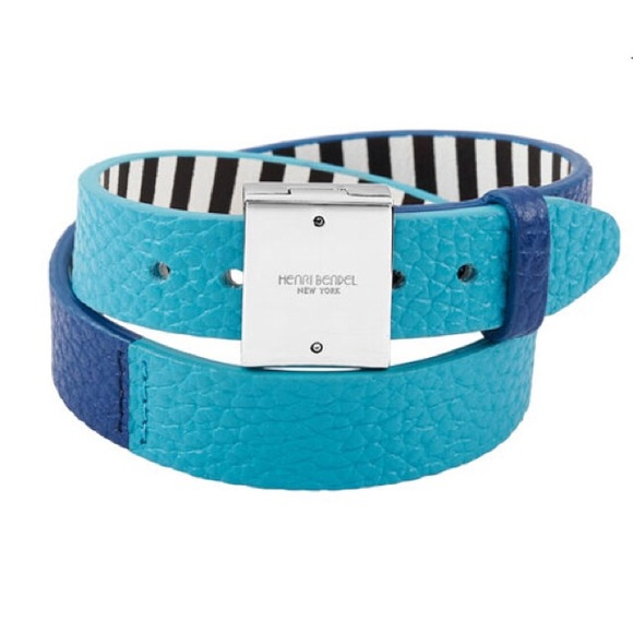 henri bendel Jewelry - New Henri Bendel influencer blue leather bracelet