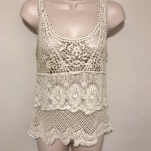 100% Cotton AEO Crocheted Tank