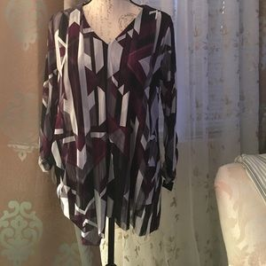 New Multi-Colored Blouse Size 0X