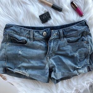 Express Distressed Jean Shorts Size 2
