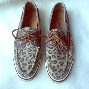 Sperry Animal Print Loafers