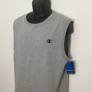 Champion Jersey Muscle Tee NWT Gym Fitness Basics