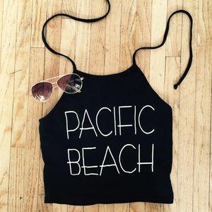 """Pacific Beach"" Halter Crop Top ☀️"