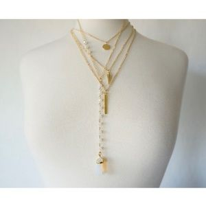 Jewelry - Triple Layer Pendant Necklace