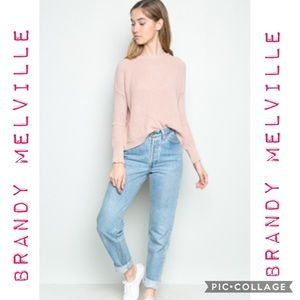 Brandy Melville Soft Pink Knit Sweater