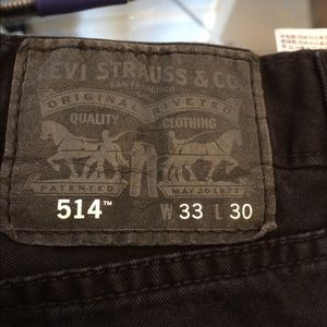 Men's Levi's straight leg black jeans