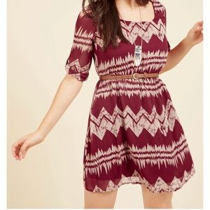 NWOT ModCloth Mountain Dwelling Mini Dress