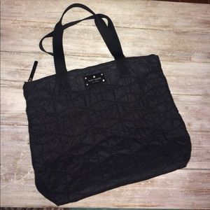 Kate spade black quilted tote