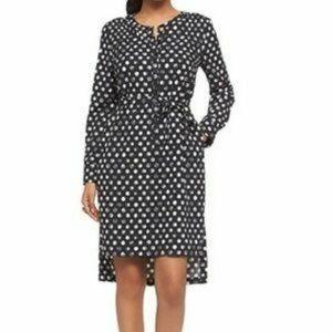 Target Merona Black & White Polka Dot Shirt Dress