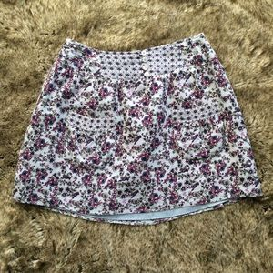 Charlotte Russe Floral Skirt with Front Pockets