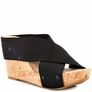"Lucky Brand ""Miller 2"" Cork Wedges sz 6.5"