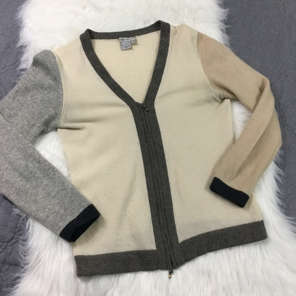 92% off Worth Sweaters - Worth Color Blocked 100% Cashmere Sweater ...