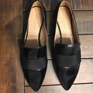 NWOT black leather Madewell flats