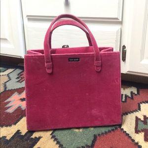 Vintage Kate Spade Pink Velvet Box Purse