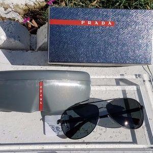 Prada, Designer Sunglasses, Aviator, Aviators,