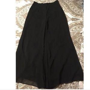 R&M Richards evening wear. Palazzo chiffon pants.