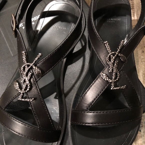 44 Off Shoes Ysl Nu Pieds Monogram Serpent Flat Sandal