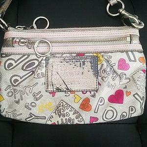 Coach Poppy purse wristlet