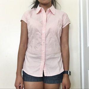 Arizona jean company pink short sleeve polo shirt