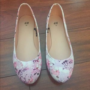 New Pink Floral Flats