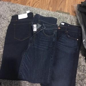 Two pair of jeans one loft one Ann Taylor