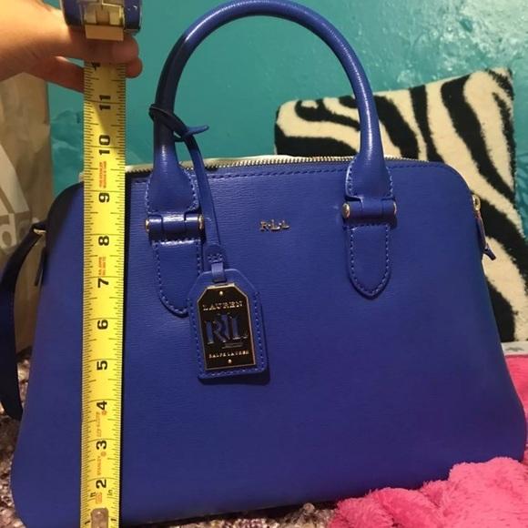 5aa35e654ed6 Royal blue Ralph Lauren purse