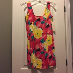 Dress with Floral & Cherry Pattern