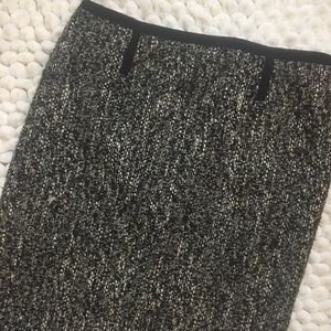 Talbots tweed fringe skirt