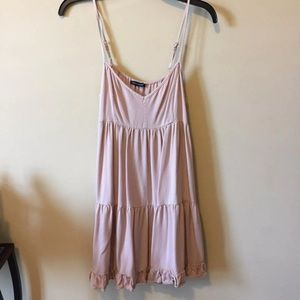 American Eagle Outfitters Dresses - Baby Pink Ruffle Mini Dress