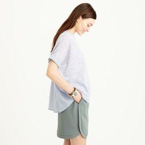 J. Crew Combo Sweater Stripe Linen Short Sleeve