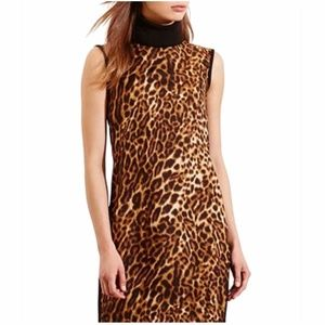 Lauren Ralph Lauren Ocelot-Print Turtleneck Dress