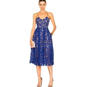 Self-Portrait Azaelea Cobalt Dress $498 size 2