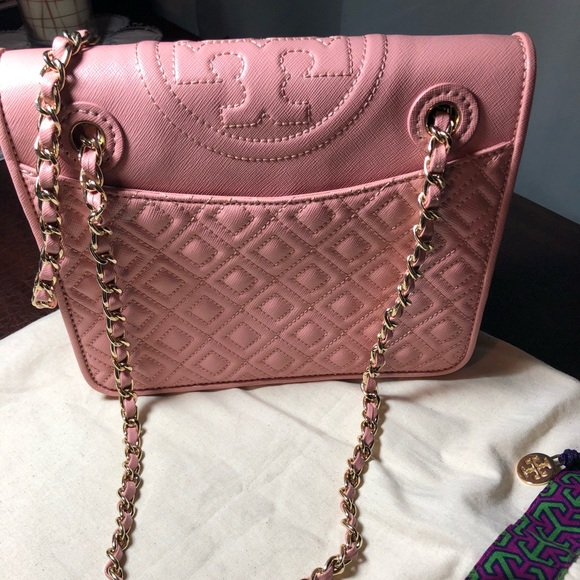 a3572bea925 Tory Burch Bags | Fleming Medium Bag Rose Sachet | Poshmark