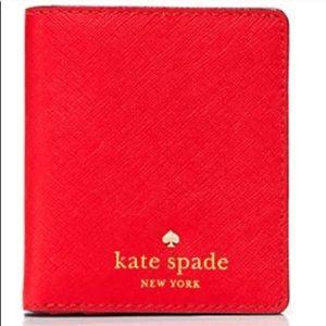 kate spade cedar street tavy wallet in cherry red