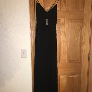 Classy black dress with rhinestones