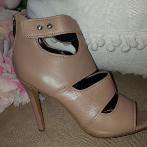 Trouve authentic nude leather heels
