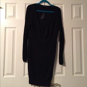NWT BCBG Black Sweater Dress Large