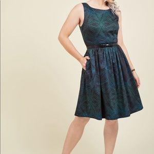 Modcloth black/green dress