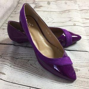 Shoes - Purple Shiny Casual Flats Women's 8.5 NEW