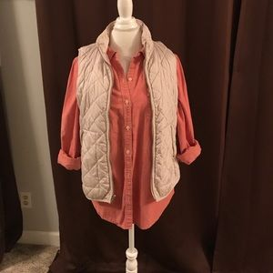 Old Navy button down/vest combo
