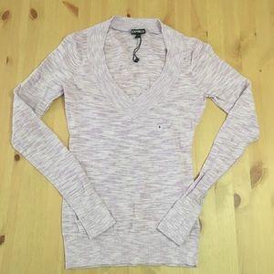 NWT Express V-Neck Lightweight Sweater