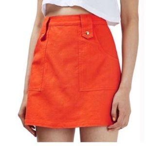 Topshop Orange mini skirt