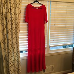 Lularoe Ana red dress. Perfect for the holidays!
