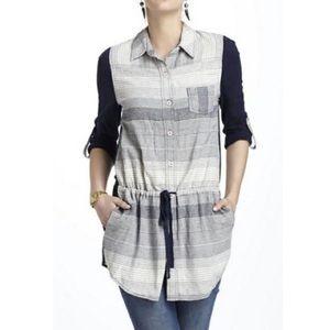 Anthropologie Postmark Rowena striped tunic top