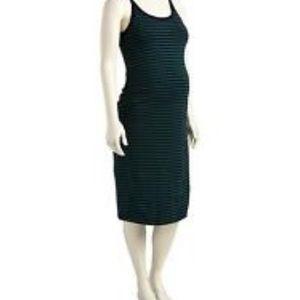 Maternity striped bodycon tank dress