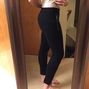 Gap Black Moto-style leggings