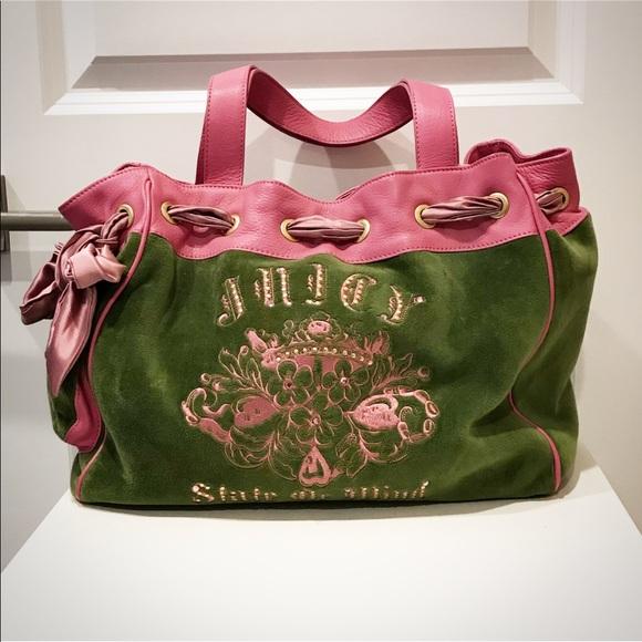 e19a42e77f80 Juicy Couture Handbags - EUC Juicy Couture Satchel Velour Leather