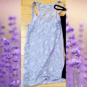 Lavender A&E tank lace detailing